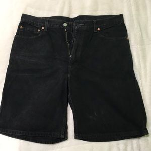 Levi black Jean shorts too big for me now